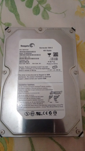 hd 400 gb [sata2] seagate 7200rpm st3400832as 0161