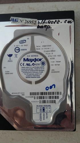 hd 40gb ide maxtor 3. 5 series