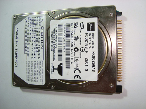 hd 48 - toshiba 8gb mk8025gas (defeito)