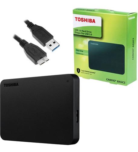 hd externo 1tb toshiba canvio basics usb3.0 portatil c/cabo