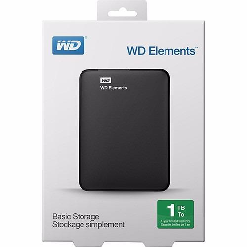 hd externo 1tb western digital / wd elements / usb 3.0  novo
