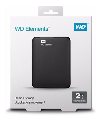 hd externo 2tb portátil western digital elements usb 3.0 wd