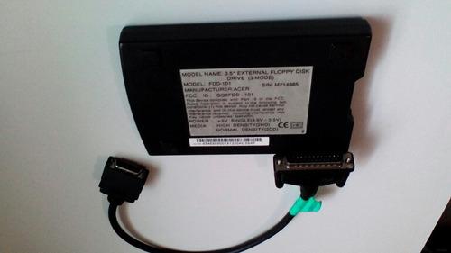 hd externo acer fd101 - portatil para disquete.
