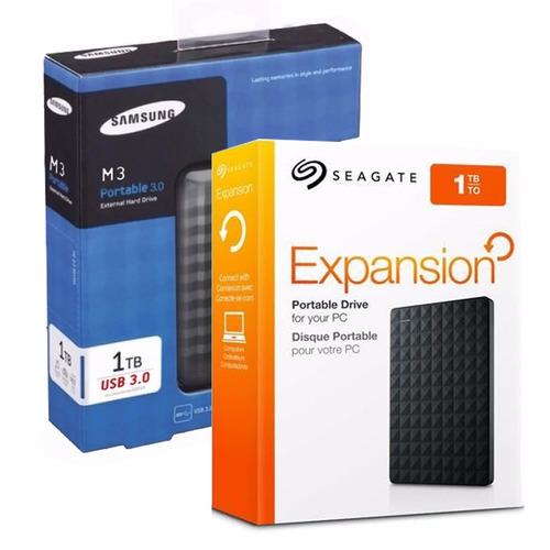 hd externo portátil seagate samsung 1tb usb 3.0 usb