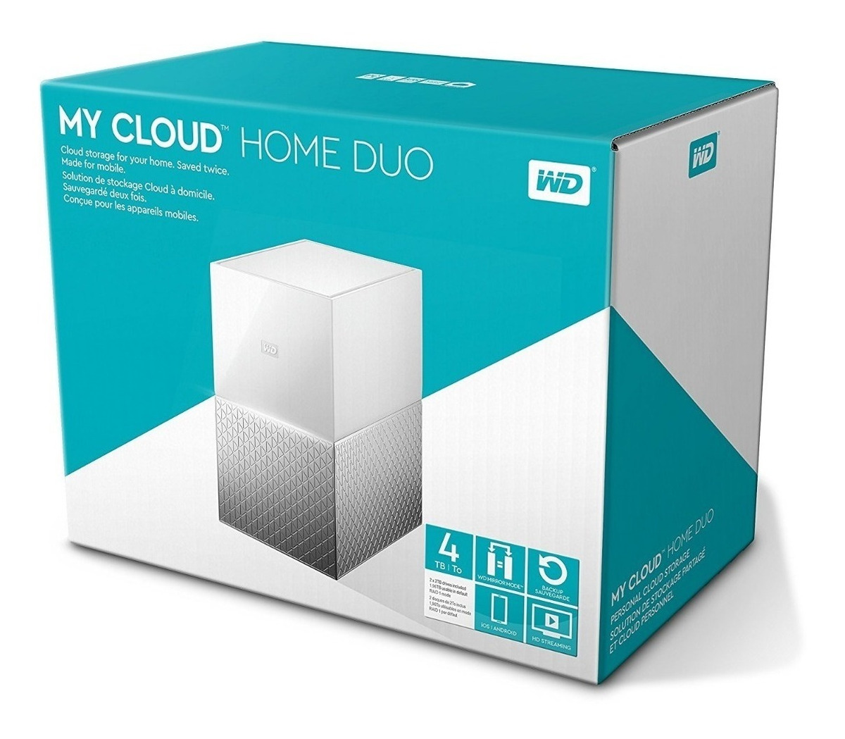 Hd Externo Western Digital 4tb My Cloud Home Duo Nuvem 4 Tb