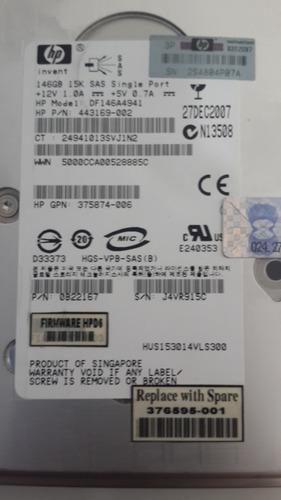 hd hp 146gb 15k sas 3,5 df146a4941 443169-002 376595-001