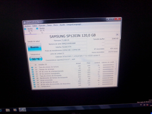 Hd Ide Pc Samsung 120gb Sp1203n