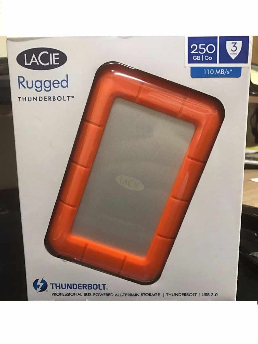 Hd Lacie Rugged 250gb De Ssd Thunderbolt Usb3 0 R 1 570