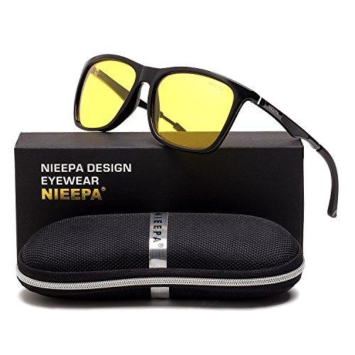 Hd Night Vision Gafas De Sol Polarizadas Square Yellow Le ... 94192ad57aba