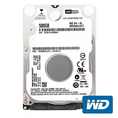 hd notebook 500gb western digital wd 5400rpm 2,5 sata 3 nfe