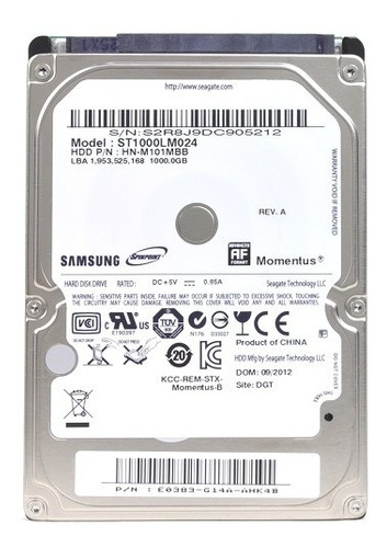 hd notebook seagate 1tb 1000 gb - pronta entrega samsung