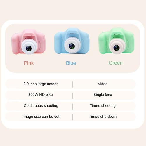 hd pantalla chargable digital mini cámara niños dibujos anim