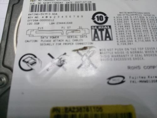 hd para notebook sata 120gb fujitsu original perfeito