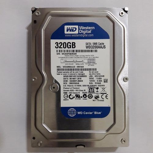 hd pc sata western digital 320gb wd3200aajs  defeito