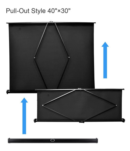 hd plegable table top 40 -inchpantalla de proyección manual