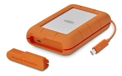 hd portátil lacie 4tb rugged thunderbolt usb-c stfs4000800