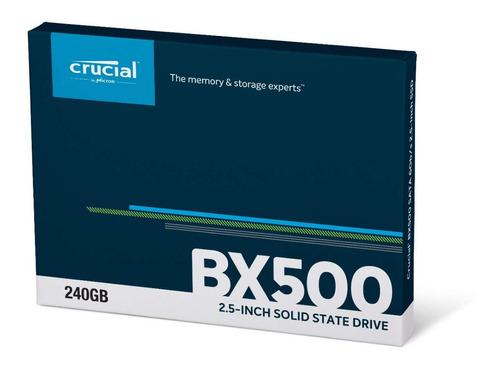 hd ssd 240gb crucial bx500 sata 2,5 540mb/s novo original