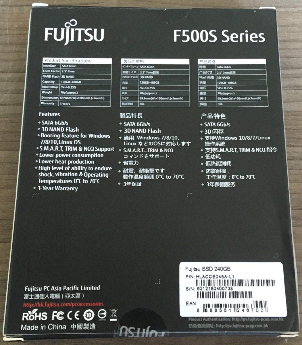 Hd Ssd 240gb Fujitsu F500s-240gb Sm2258xt