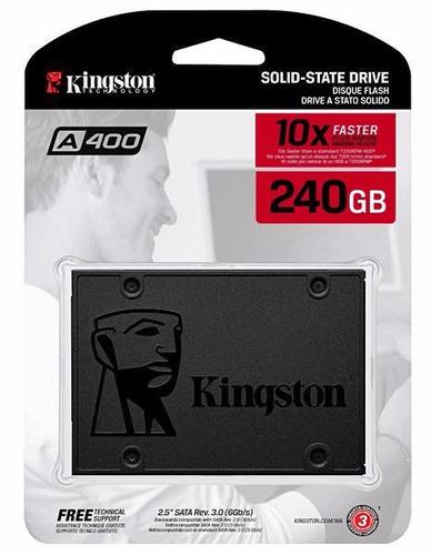 hd ssd 240gb kingston 240 giga a400 sata 3 6gb/s 550mb/s