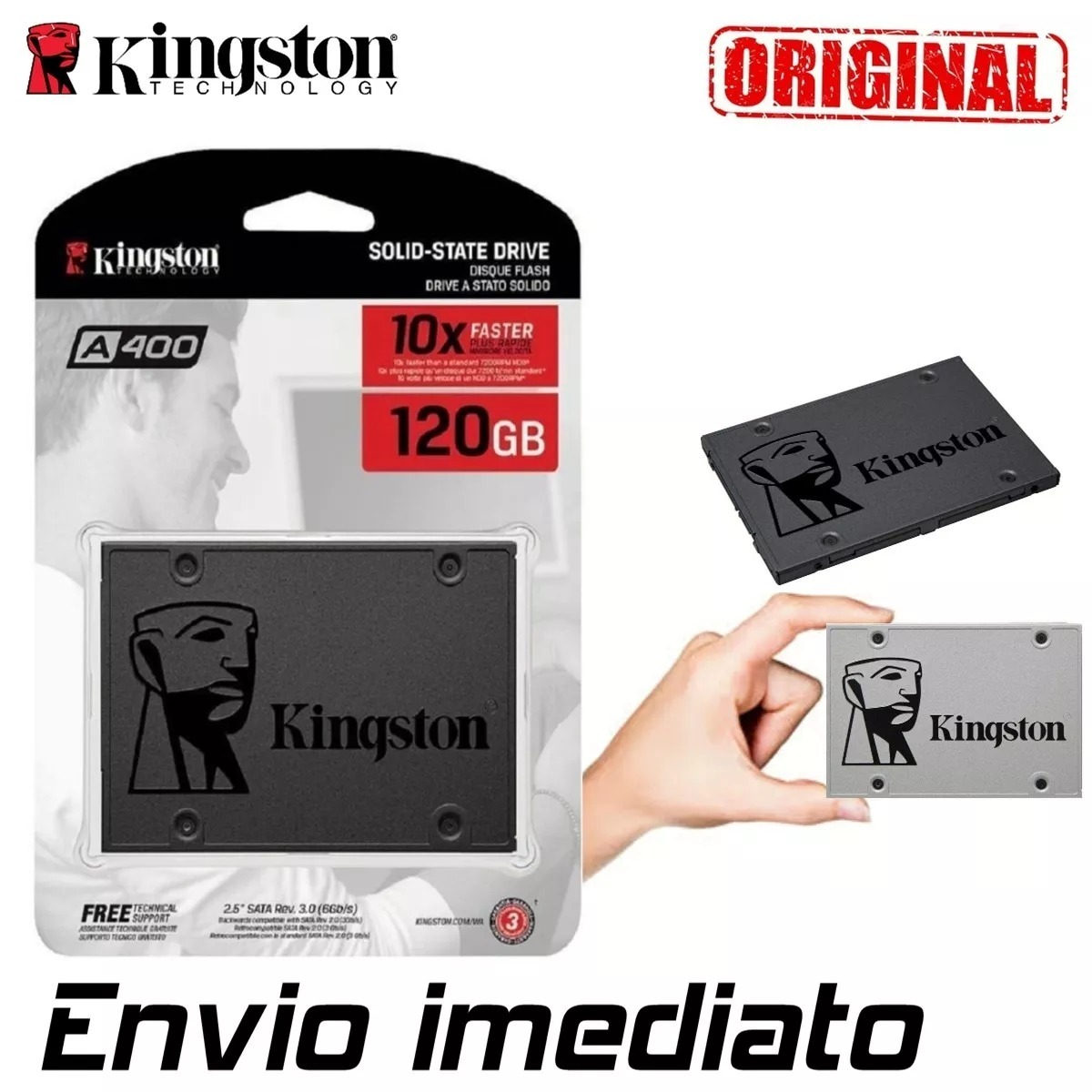 Hd Ssd Kingston 120gb Sata 3 6gb S 25 Pol Lacrado A400 R 18790 Iii Carregando Zoom