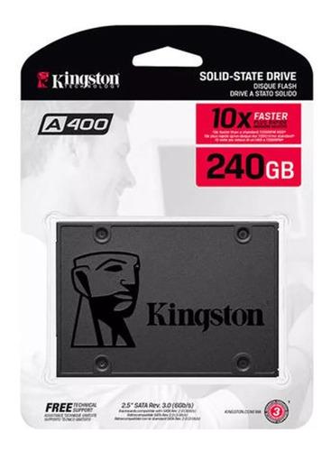 hd ssd kingston 240gb ssdnow a400 sata 3 6gb/s 500mb/s c nf