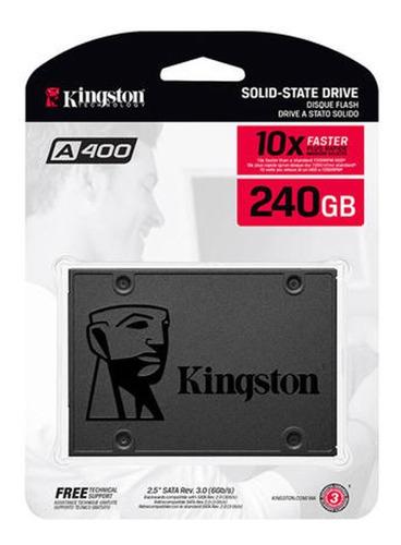 hd ssd kingston a400 240gb 6gb/s pc notebook computador