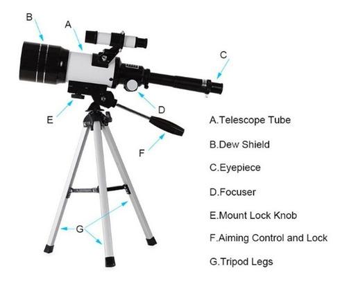 hd telescopio astronómico protable trípode de alta potencia