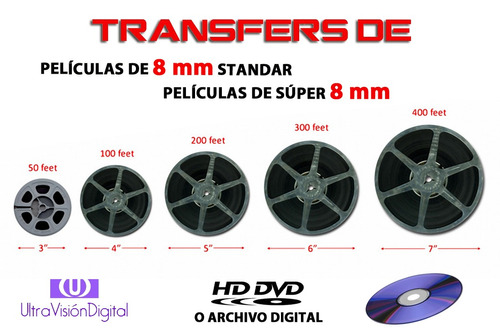 hd transfer de películas de cine 8mm y super 8mm a dvd