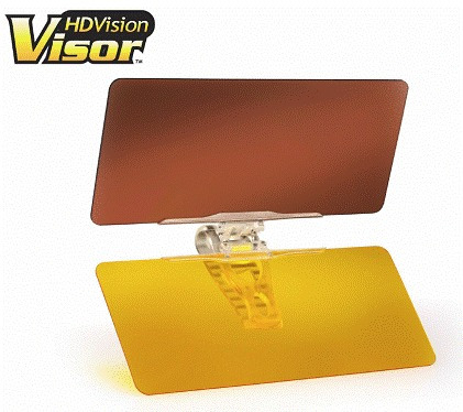 hd vision visor tv protector ojos dia y noche para auto