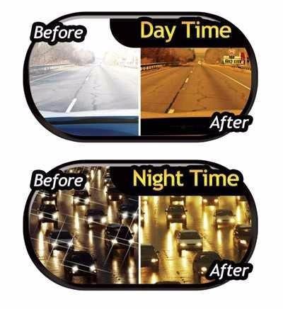 hd visor protector de dia y noche para auto vision vmx
