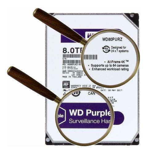 hd wd purple 8tb 5400rpm dvr intelbras wd80purz nota fiscal