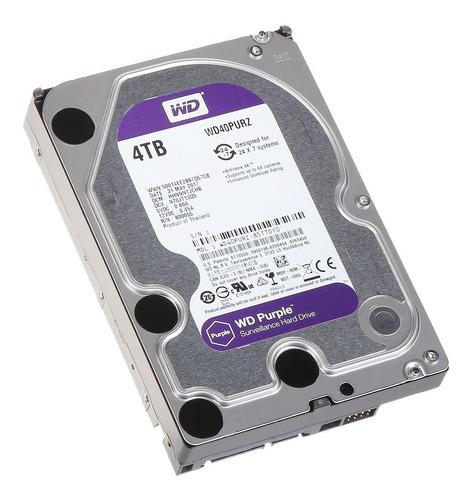 hd wd purple surveillance dvr 4tb 64mb wd40purz intelbras