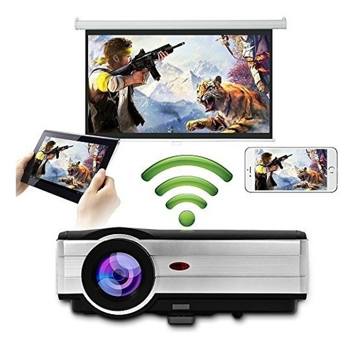 hd wireless android lcd proyector airplay miracast soporte 1
