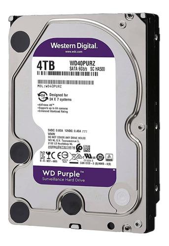 hdd 3.5 wd purple 4tb 5400rpm 64mb sata 3.0 - 6gb/s
