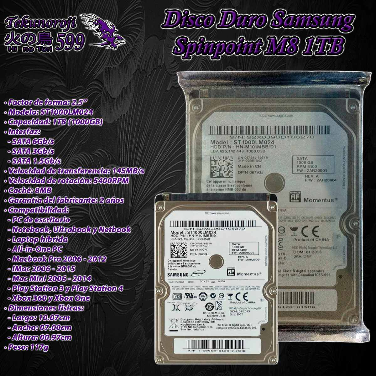 hdd samsung spinpoint m8 1tb 1000gb 2.5'' 5400rpm