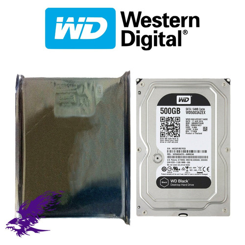 hdd wd black 500gb 3.5'' 26.1mm 7200rpm sata 3.0 - 6gb/s