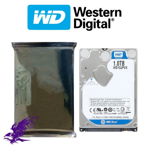 hdd wd blue 1tb 2.5'' 9.5mm 5400rpm 8mb sata 3.0 - 6gb/s