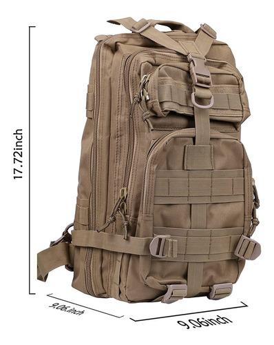 hde - mochila tactica militar de 20 l molle para insectos