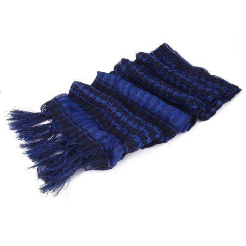 hde premium árabe shemagh moda cabeza bufanda - azul