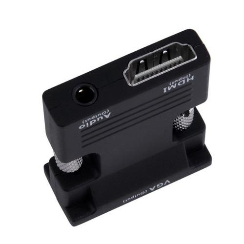 hdmi a convertidor adaptador vga hdmi femenino a cable audio