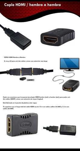 hdmi cople / conector