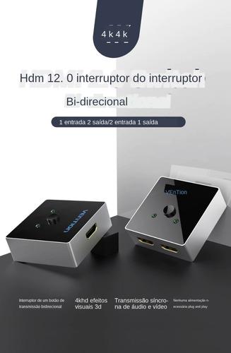 hdmi divisor switch hdmi 2.0 4 k bidirecional com cabos