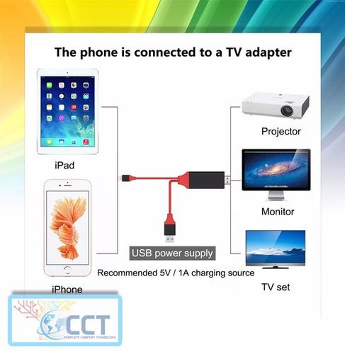 hdmi hdtv cable adaptador av para iphone, ipad, ipod.