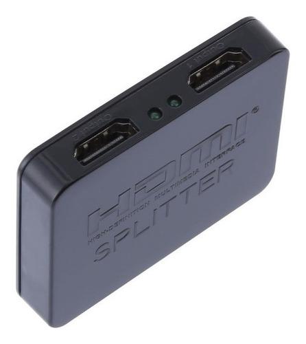 hdmi splitter 1x2 - 1 entrada hdmi duplica la señal - hd 4k