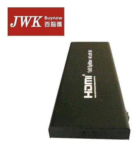 hdmi splitter 1x8 4k x 2k 3d amplificardor a 8 pantallas jwk