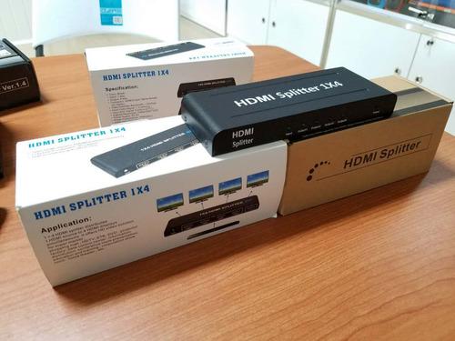 hdmi splitter amplificador 1x4 a 4 monitores o tv jwk vision