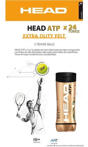 head atp x3 tenis padel caja x24  local no.1 argentina!!