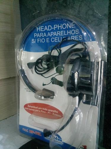 head-phone itm hpcel para celular e telefone s/fio. fone