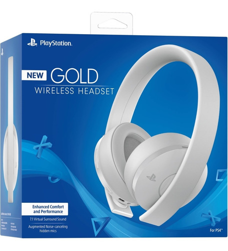 head set audifonos ps4  gold wireless originales blancos