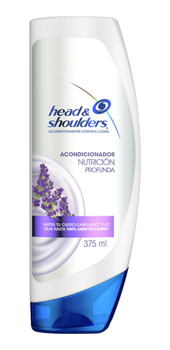 head & shoulders nutrición profunda acondicionador 375ml